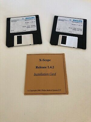 Philips X-scope Service Disk Rel. 1.4.2 2 Disk Set For Field Service Engineer