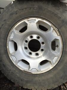 Wheels off 2008 gmc 2500