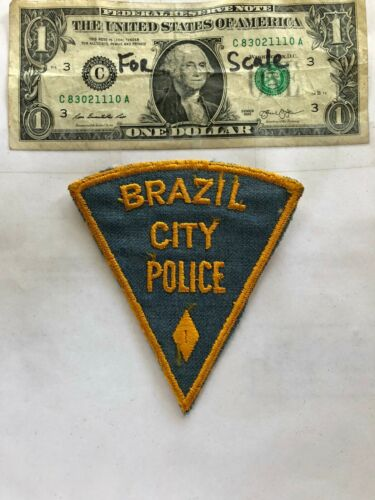 Old Brazil City Indiana Police Patch Un-sewn great shape