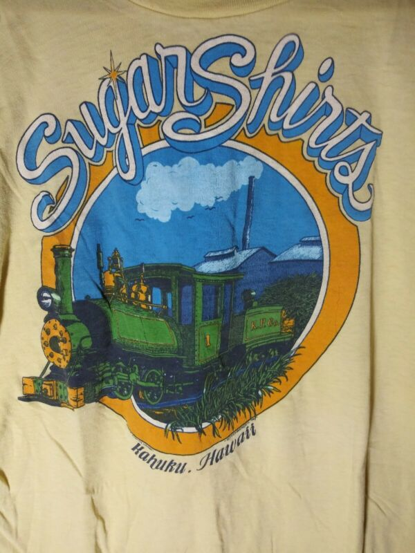 Sugar Shirts Kahuku Hawaii Fun Tees Lg. Used T-Shirt By Steenbergen