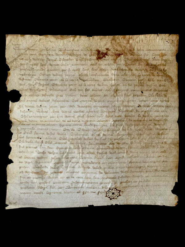 MEDIEVAL VELLUM CONTRACT 1334