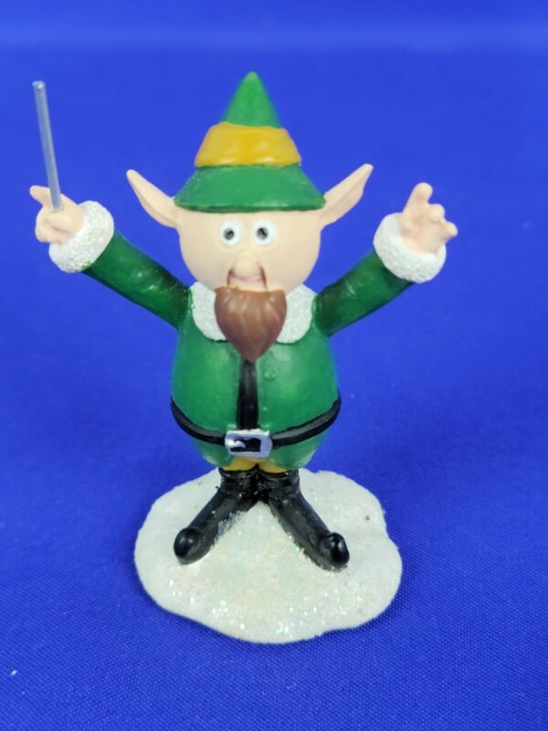 Hawthorne Village Rudolph Christmas Town Elf Conductor Green suit with Beard