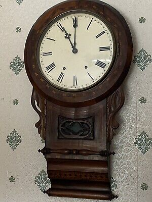 Antique American Drop Dial Wall Clock