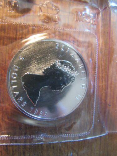 1989 CANADIAN MAPLE LEAF ELIZABETH II 1 OZ .9999 5 DOLLAR UNCIRCULATED COIN