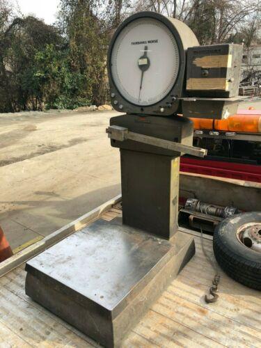 Vintage Fairbanks Morse Industrial Platform Scale 480LB Printer Printomatic II