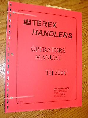 Terex Th528c Operator Manual Telescopic Handler Rough Terrain Forklift Maint.