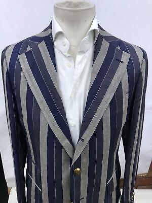 €980 Gabriele Pasini Blazer tg 50 Man Striped made in Italy Taylor made