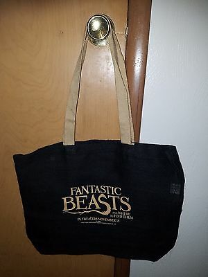 Harry Potter Fantastic Beasts Tote Canvas Burlap Book Bag Theatrical SWAG