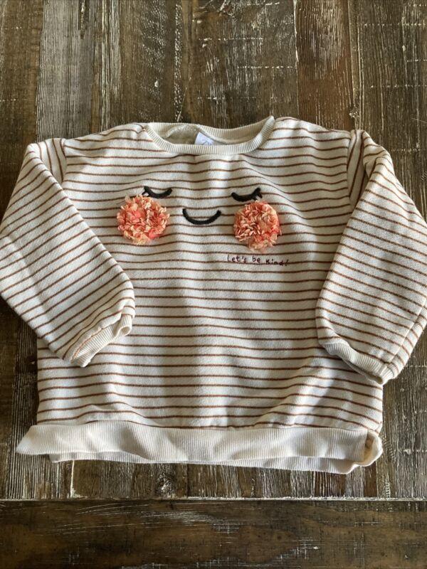 Zara Baby 2-3 Years (2T-3T) 98cm Striped Toddler Girl Sweatshirt