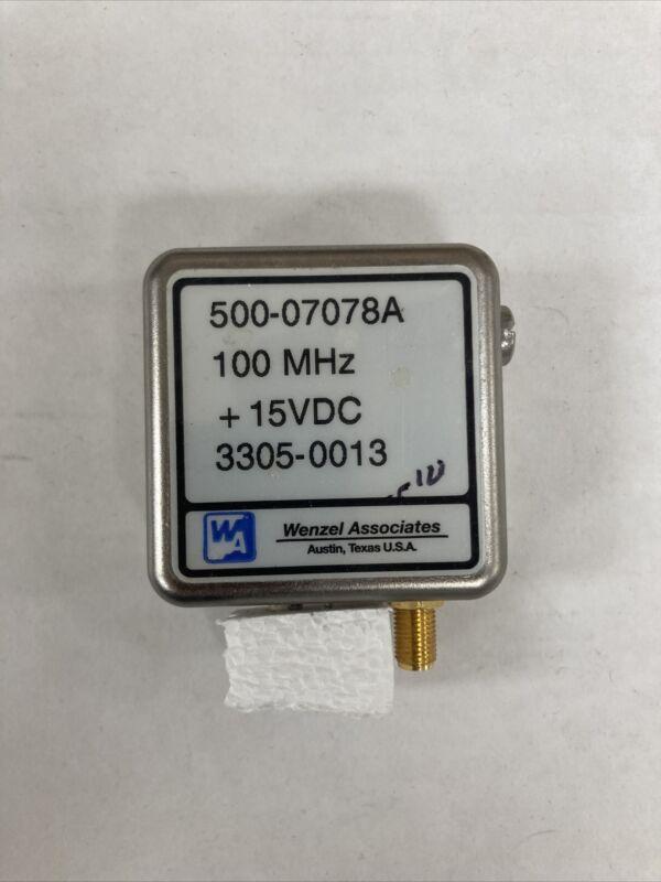 Wenzel associates 100 MHz 15V Crystal Oscillator MADE IN USA 🇺🇸 / US Seller