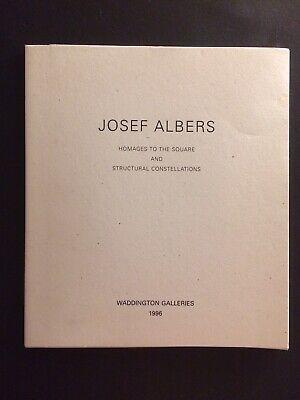 JOSEF ALBERS, exhibition catalogue, Waddington Galleries, 1996