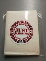 50 Confezioni Fazzoletti Matrimonio Carta Just Married Rosso Lux -  - ebay.it