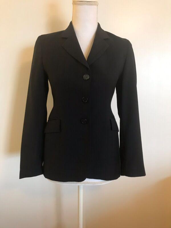 RJ CLASSICS Diamond Collection Show Coat Riding Jacket Navy Blue Youth Girls