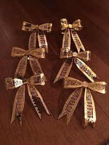 6 musical note napkin rings