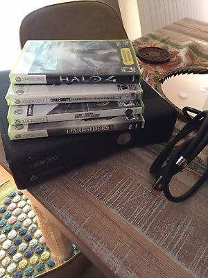 microsoft xbox 360 slim 250gb Black friday Bundle With 4 Games