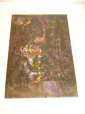 ETW Psychedelic TWO sided Poster EVENING RAGA OVERPRINTED LISTEN SLEEP DREAM
