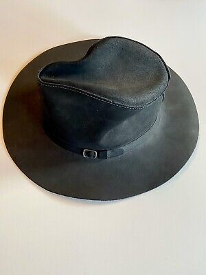 Henschel Black Hat Size Small Leather Western Cowboy Style - Made In USA