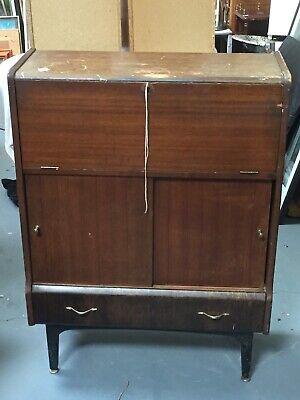 Vintage Antique Retro Writing Bureau Cupboard Sideboard