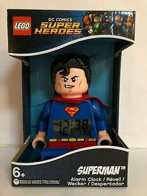 LEGO DC Comics Super Heroes superman Minifigure Alarm Clock Kids Toy