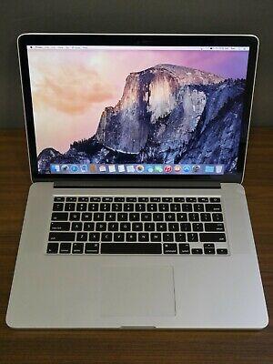 """Apple 2013 MacBook Pro 15"""" Retina / 2.0Ghz QUAD i7 / 16GB / 256GB Warranty"""