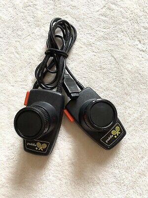 Atari 2600 Pong Tennis Paddle Game Controllers (Pair) OEM Vintage Red Black
