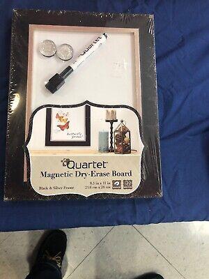 Magnetic Dry Erase Board 11 X 8.5 Black Frame -