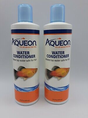 Lot of 2 Aqueon 16oz Aquarium Water Conditioner Water Treatments Exp 5/2023