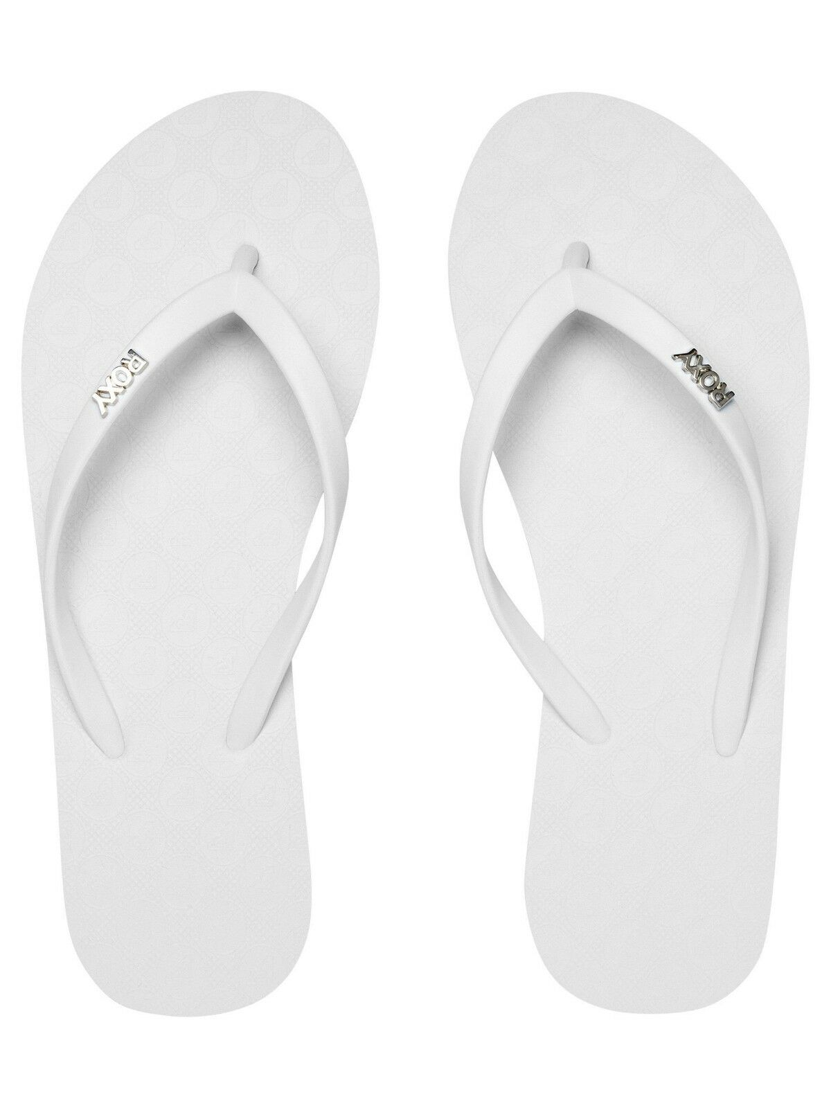 138c76de47b41 ROXY WOMENS FLIP FLOPS.NEW VIVA IV WHITE RUBBER SURF ...