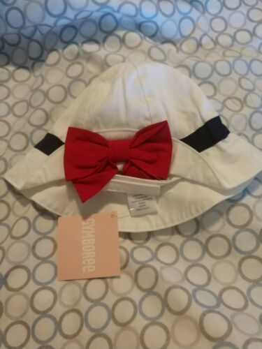 Gymboree girls sailor baby sun hat size 0-3 mos. nwt