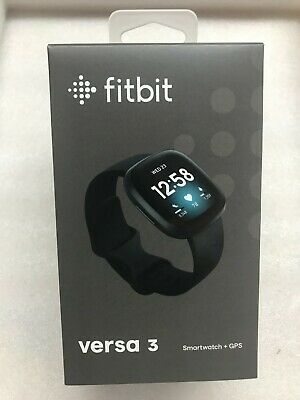 *NEW / SEALED* Fitbit Versa 3 Fitness Smartwatch Activity Tracker - Black - NIB