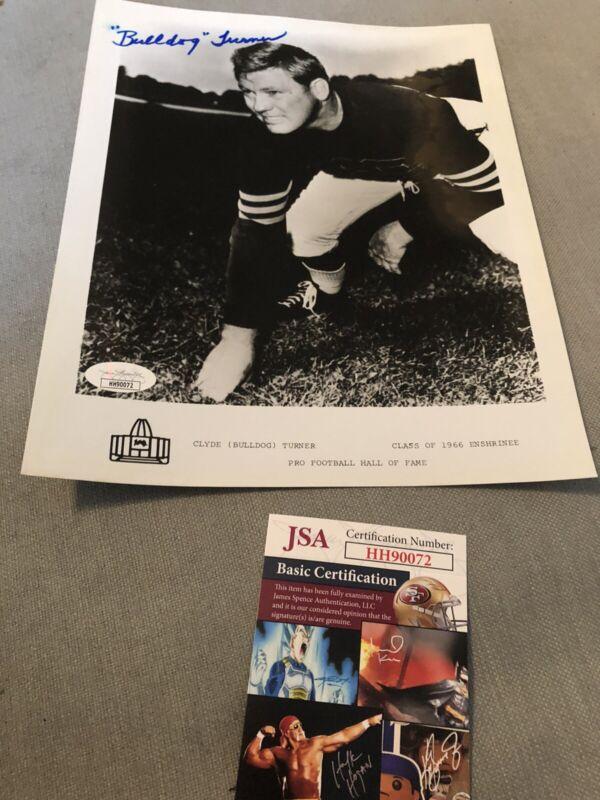 Autographed Bulldog Turner 8x10 Photo JSA Certified Signed