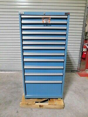 Lista 12 Drawer Steel Tool Storage Cabinet 228 Compartment Blue Tcc-26-ftb-cb