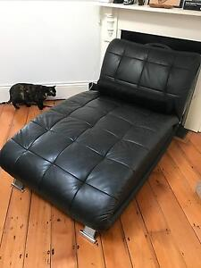 leather chaise scandinavian style couch sofa lounge Newtown Inner Sydney Preview