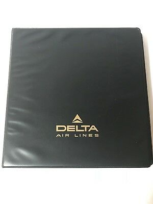 Vintage Delta Airlines Pilot's Reference Manual Aviation Plane Collectble L1011
