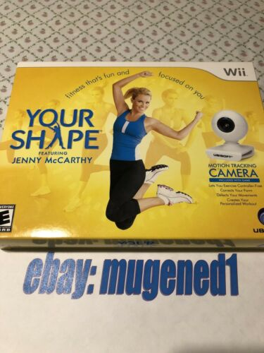 Wii Your Shape With Camera Featuring Jenny McCarthy Fitness Workout Video Game - $3.99