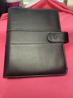 Franklin Covey Black Leather Binder