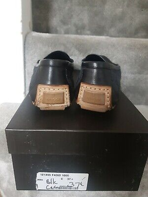 Genuine Black Gucci GG Loafers Size 4.5 Eur 37.5