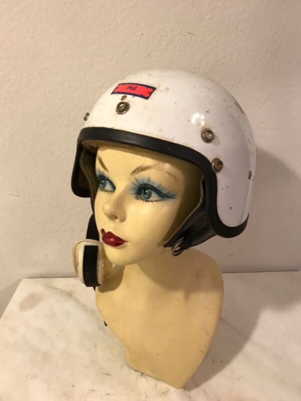 Vintage Motorcycle Auto racing  Scooter helmet