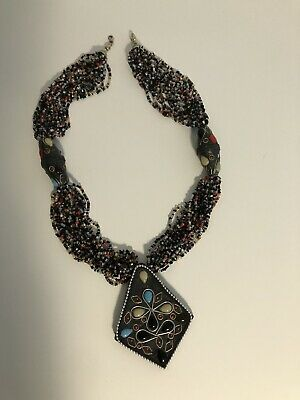 Used, Topshop Ethnic Bead Pendant Necklace  for sale  Shipping to South Africa