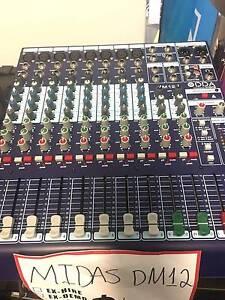 Midas DM12 Mixer 12 Channel Flinders Park Charles Sturt Area Preview