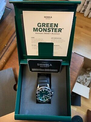 Shinola Green Monster, 43mm Automatic, Red Sox Limited Edition - Only 100 made!