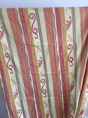 """Terracotta colour Curtains Size 44""""wide x 86"""" drop '"""