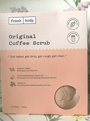 Frank Body Original Coffee Body Scrub ~ Clarifying Toning Exfoliator Vegan 200g