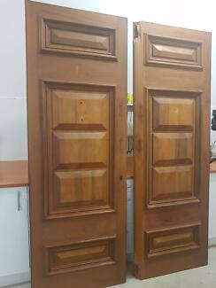 Solid timber front doors