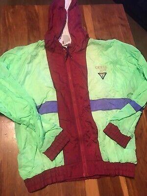 Vintage 90s Bootleg Guess Outerwear Acrylic Jacket Windbreaker M