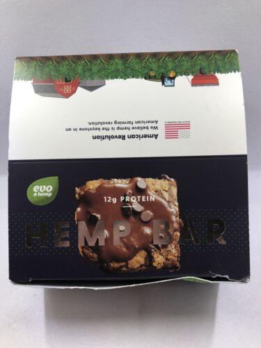 Evo Hemp Bar - Brownie Chip 12 count. Exp 08/20