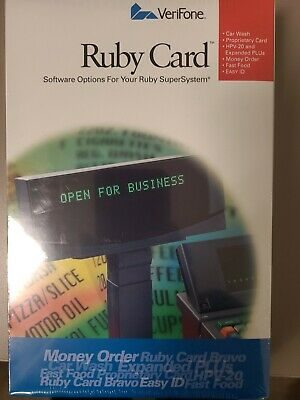 Verifone Ruby Bravo Card Expanded Plu Car Wash Sapphire P040-07-506 New