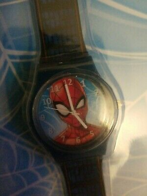 NIP Marvel Comics Spider-Man Kids Analog Watch Great design colorful and durable