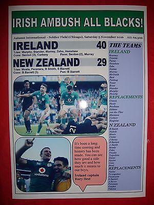 Ireland 40 New Zealand 29 - 2016 Autumn International - souvenir print