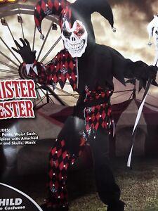 Spirit of Halloween Sinister Jester Costume Kids medium 10-12